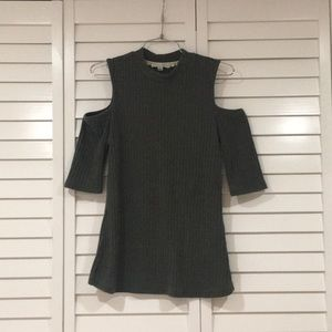 Sweaters - Olive Cold Shoulder Sweater Top